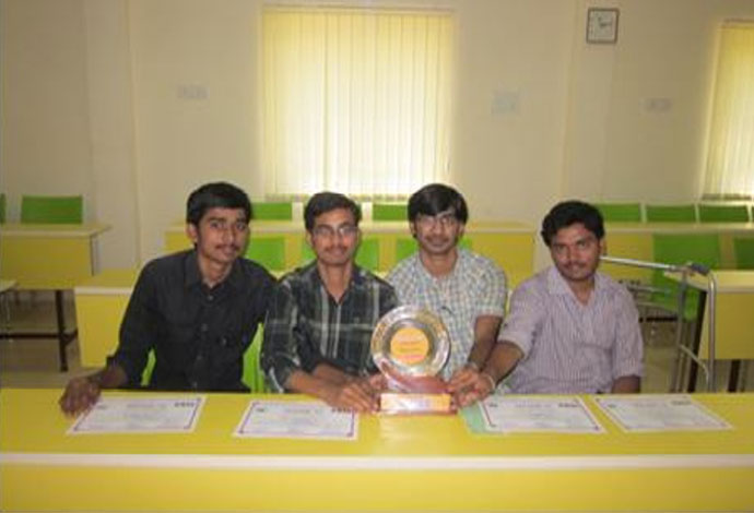 Second Price at SRUJAN 2013 (IEEE event at MANIT Bhopal)